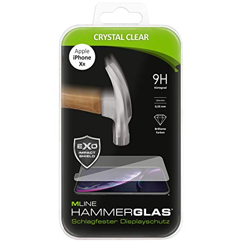 Protector de pantalla de cristal de martillo para Apple iPhone XR.