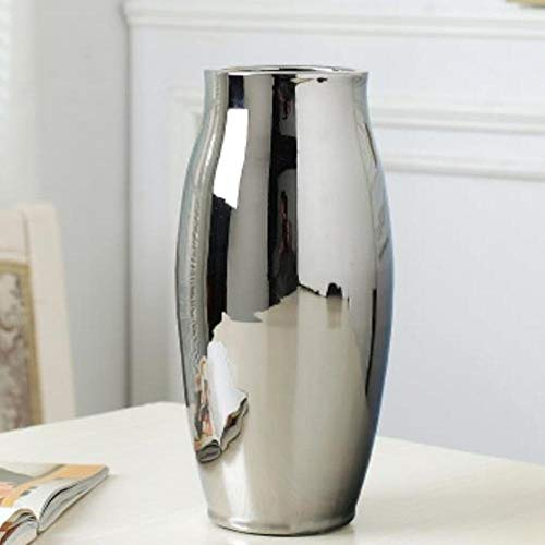 Vase Silber Vase Zu Hause Wohnzimmer Tv-Schrank Weinschrank Dekoration Ornamente Weiche Kunst Keramik Vergoldete Vase Keramik Vase C (Noflower)
