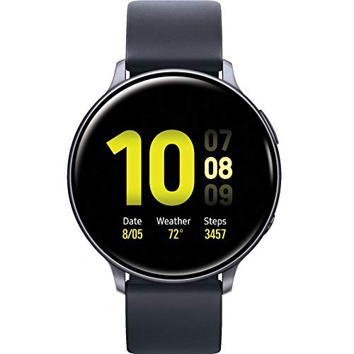 SAMSUNG Galaxy Watch Active2 (Correa de Silicona + Bisel de Aluminio) Bluetooth – Internacional (Aqua Black, R820-44 mm)