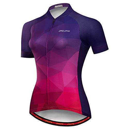 Cycling jersey Womens Bike jersey zip Mountain cycle Shirts Short sleeve Road Bicycle tops Pro team racing MTB Tops for ladies female clothing wear Size M