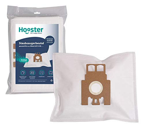 Hooster - 20 Bolsas de aspiradora para Miele S 5211 Parkett & Co / S5211 Parkett&Co/S.5211 Parket 5000 con Filtro Adicional de Fieltro
