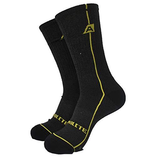2 Paires 72% Thermolite Hiver épais Trekking Chaussettes Chaussettes 2 Couleurs (Color : 2 Pairs Gray, Size : L(EU43 46))