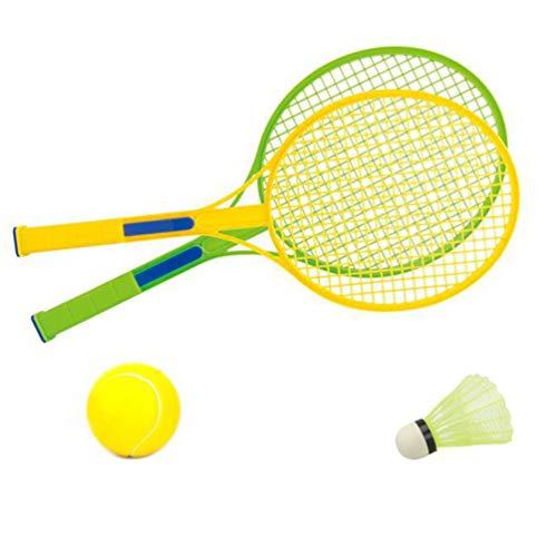Garneck 1 Satz Badminton-Set Kinder Tennisschläger Spielzeug Junior Tennisschläger Spiel Beach Party Gefälligkeiten