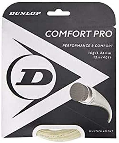 Dunlop Unisex-Adult 624813 Tennis String Comfort Pro 12m Set 134mm 1Stück, Natural, One Size
