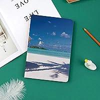 新しい ipad pro 11 2018 ケース スリムフィット シンプル 高級品質 防止 二つ折 開閉式 防衝撃デザイン 超軽量&超薄型 全面保護型 iPad Pro (11 インチ)島カリブ海新婚旅行テーマビーチ海岸オーシャンプリント