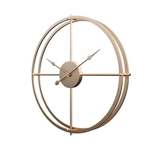 Touchmark Schlichte Wanduhr, Uhr Wand 40CM Retro Dekorative Geräuscharm Lautlos Wanduhr für Wohnzimmer, Gold