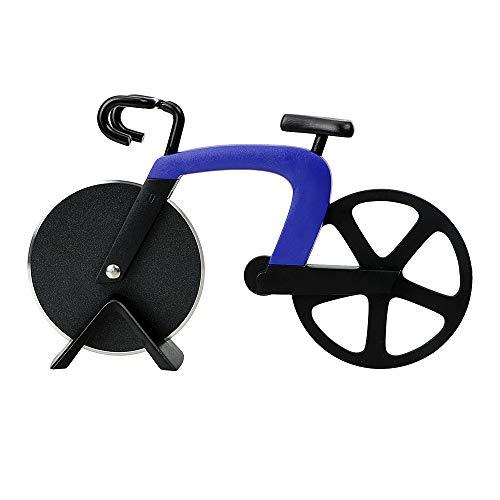 Holdream Pizzaschneider Gebäck Schneiden Kreativ Fahrrad Form Edelstahl Küchenwerkzeug (blau)