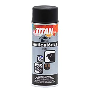 Titan S09030240, Pintura Spray Anticalórica, Negro mate, 400 ml