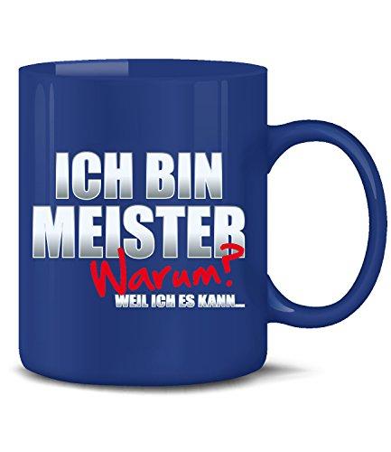 Golebros Ich Bin Meister Tasse Becher Kaffee Arbeit Beruf Handwerksmeister Prüfung Titel Geschenkidee Ausbildung Brief Geschenk zur Meisterprüfung bestanden