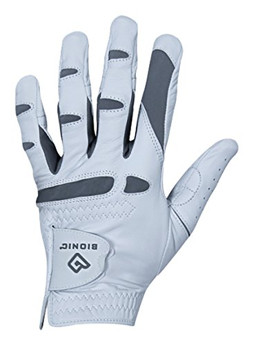 Bionic Gloves – Menâ€s PerformanceGrip Pro Premium Golf Glove made from Long Lasting, Genuine Cabretta Leather, X-Large,White