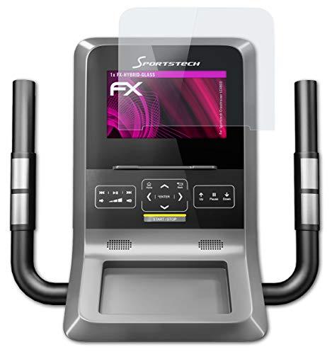 atFolix Glasfolie kompatibel mit Sportstech Crosstrainer LCX800 Panzerfolie, 9H Hybrid-Glass FX Schutzpanzer Folie