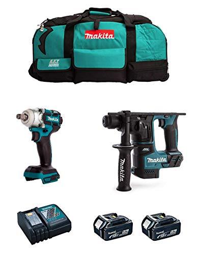 MAKITA Kit MK213 (Llave de Impacto DTW285 + Martillo DHR171 + 2 Baterías de 5,0 Ah + Cargador + LXT600)