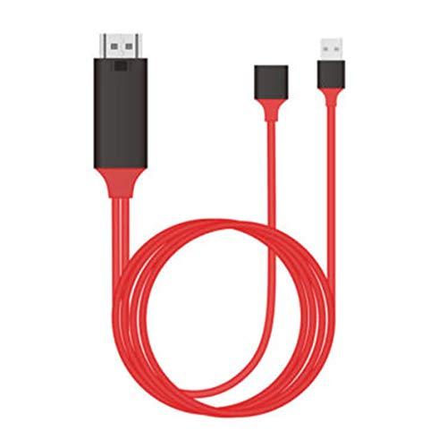 Heaviesk Adaptador de Cable Micro USB MHL a HDMI 1080P