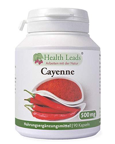 Cayenne 500mg x 90 kapseln (100% ohne Zusatzstoffe)