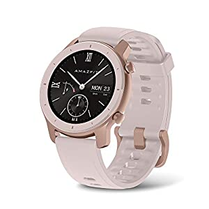 Amazfit GTR 42mm by Huami with 20-Day Battery Life,24/7 Heart Rate and Acticity Tracking 1.3 Inch AMOLED Touchscreen IP68, US Service and Warranty