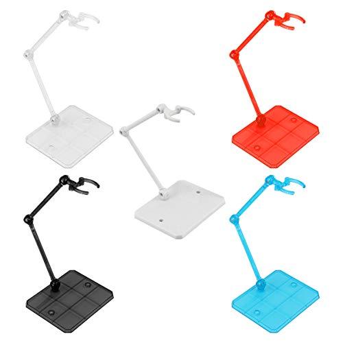 GARNECK 5 Pezzi Action Figure E Supporto per Bambola Prop up Supporto per Display Modello Action Figure Supporto per Base Display Stand Staffa Modello 1/144