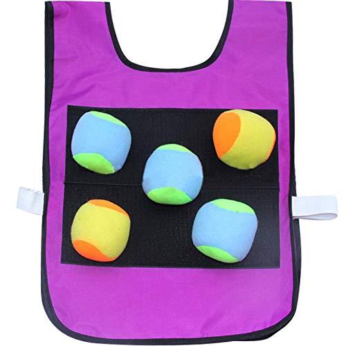 Umora キャッチボール ダーツボール 両面用 ストレス解消 屋内 屋外 スポーツ アウトドア ボール5個付き パープル