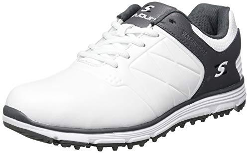Stuburt SBSHU1124, Scarpe da Golf Uomo, Bianco/Grigio, 8 UK