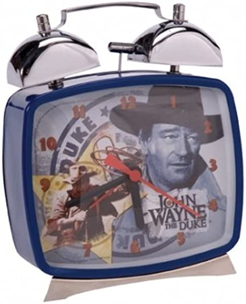 John Wayne Alarm Clock By Schylling Battery Operated