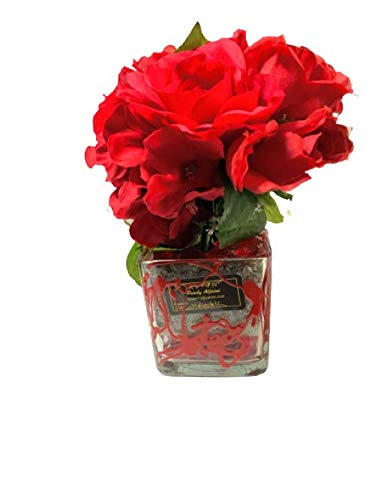 Artificial Wholesale Flowers with Glass Modern Vase San Diego Mall Brid Fake