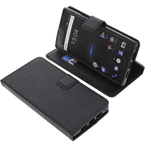 foto-kontor Tasche für Oukitel K3 Book Style schwarz Schutz Hülle Buch