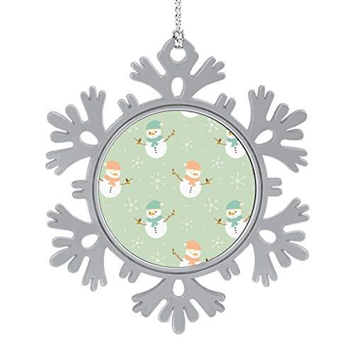 DESPKON Snowflake Pendant Cute Cute Cartoon Snowman Background Retro Christmas Snowflake Ornaments for Farmhouse Primitive Country Decor 2 Inch