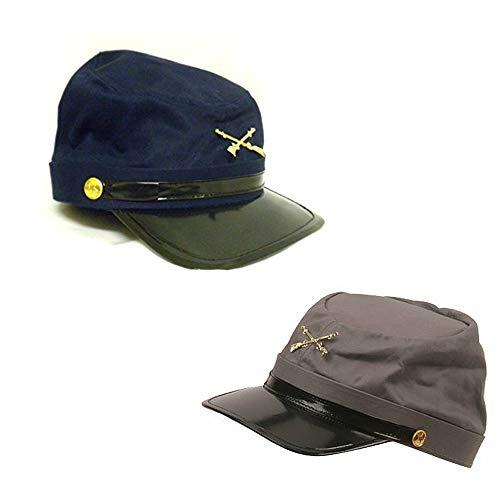 Blue and Gray Civil War Kepi Soldier Hats Fun History Kids Pretend Play Set (Civ War Hat)