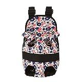 Yuncai Tragbarer Atmungsaktiver Transporttaschen für Hunde, Haustierträger Rucksack Große Reisetasche für Welpen, Hunde und Katzen (Stil#3, M)