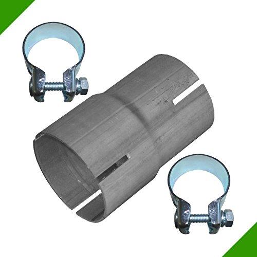 Reductor de tubos, de 55mm a 60mm, adaptador de escape, banda de acero, abrazadera