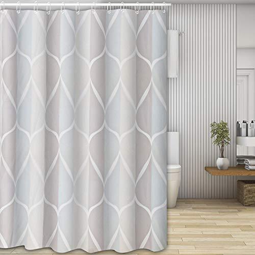Molbory Duschvorhänge, Waschbar Badvorhänge aus Polyester, Wasserdicht Anti-Schimmel, Anti-Bakteriell mit 12 Duschvorhangringe Design, 180 x 180cm(Kreis)