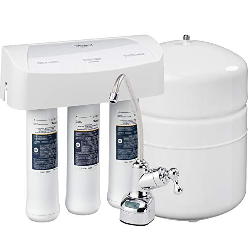 Whirlpool WHER25 Reverse Osmosis (RO) Filtration System With Chrome Faucet | Extra Long Life | Easy...