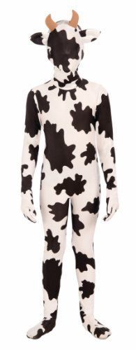 Forum Novelties I'm Invisible Costume Stretch Body Suit, Spotted Cow, Child Large