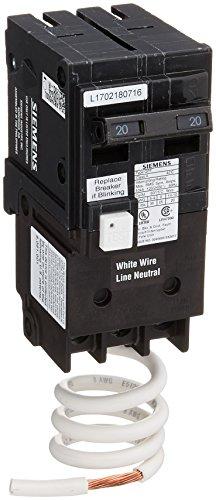 Siemens QF220A QF220 Ground Fault Circuit Interrupter, 20 Amp, 2 Pole, 120 Volt, 10,000 AIC, COLOR