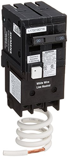 Siemens QF220A QF220 Ground Fault Circuit Interrupter, 20 Amp, 2 Pole, 120 Volt, 10,000 AIC, COLOR