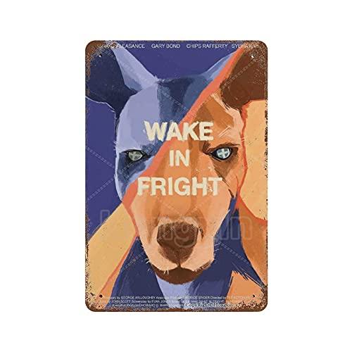 Série de films Vintage Retro Tin Sign-Wake in Fright Affiche de film 8 × 12 pouces Tin Metal Sign Garage, Bar, Cinema, Salon, Chambre à coucher, Plaque décorative en métal rétro