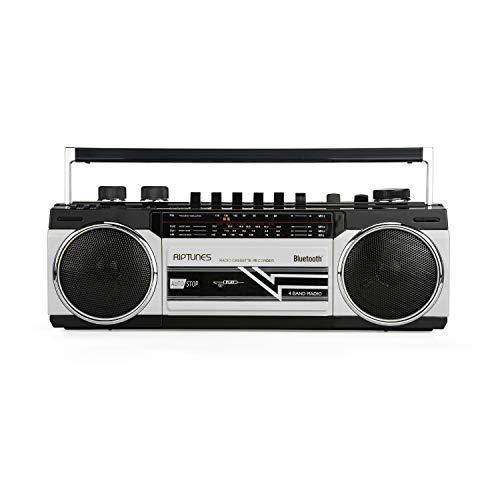 Riptunes Cassette Boombox, Retro...