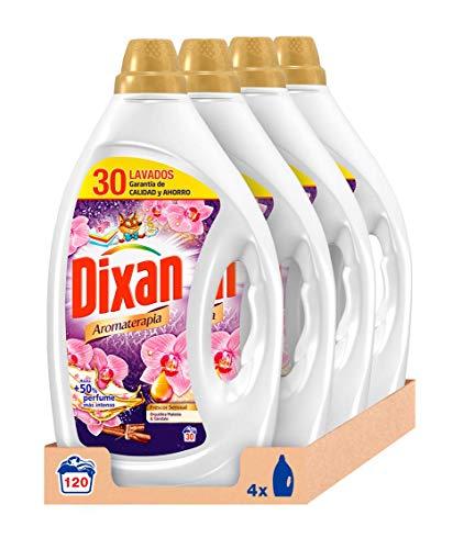 Dixan Detergente Líquido Aromaterapia de Orquídea con Aceite de Macadamia para Lavadora - Pack de 4x30D, Total 120 Lavados (6 L)