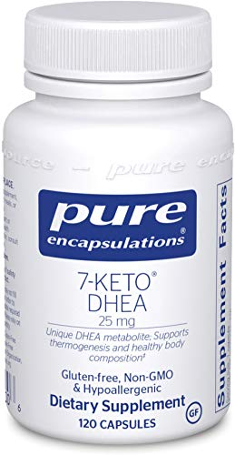 Pure Encapsulations - 7-Keto DHEA 25 mg - Unique DHEA Metabolite to Support Thermogenesis and Healthy Body Composition - 120 Capsules*