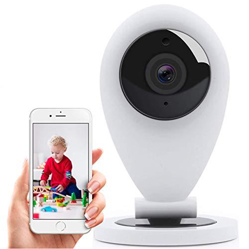 Hikam S6: La macchina fotografica per la sicurezza di Casa. (Wireless IP Camera telecamera Sorveglianza HD, Visione notturna, funzione interfono, WiFi Wi-Fi, fotocamera, videocamera, Interno)