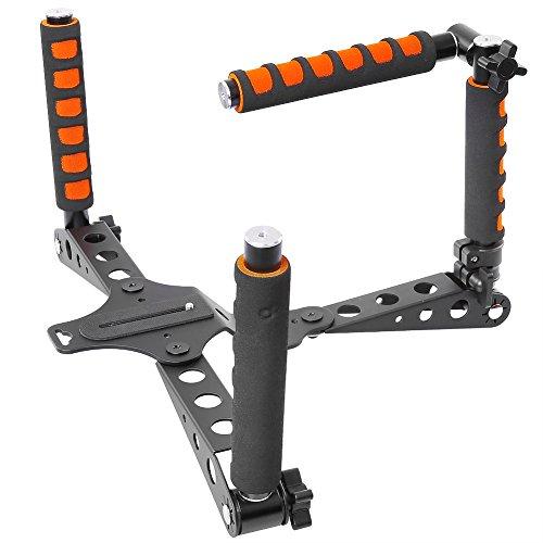 Neewer, rig stabilizzatore in lega di alluminio, pieghevole, sistema di supporto da spalla per riprese video