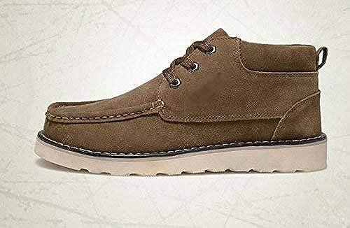 Oudan botas Casual de Ante con Cordones para hombres al Aire Libre, 42 (Color   -, tamaño   -)
