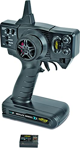 Carson 500500048 FS Reflex X1 2-Kanal 2.4G Fahrzeug, Tamiya KIT kompatibel, Modellbau, Zubehör, Empfänger, RC Funke, 2 4 GHz Fernsteuerung