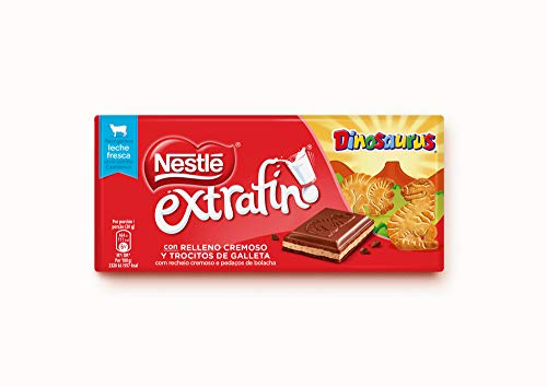 Nestlé Extrafino Dinosaurus Tableta de Chocolate 120 g - Pack de 24 tabletas