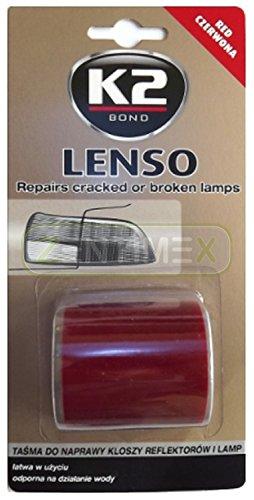 Klebeband Klebe-Reparatur-Band Brüche Autolampen Autoleuchten Scheinwerfer Rückleuchten Standlicht Abblendlicht Nebelschlussleuchte Warnblinker Parklicht rechts links hinten 48x1,52mmxm RED ROT