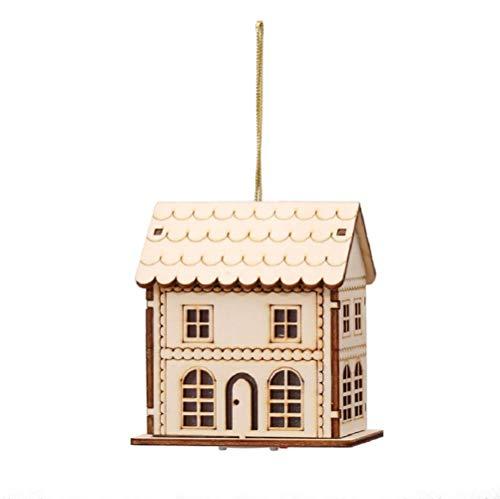 WSJ decoratieve lampen, houtsnijwerk, kerstboomversiering, kerstboomversiering, kerstmis raam display, LED-scènes verlichting, huis decoratie licht, W008
