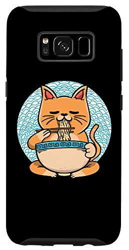Galaxy S8 Ramen Cats Cute Japanese Noodles Food Soup Foodie Lover Gift Case