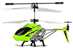 Built in Gyroscope for extreme stability and precision Popular S107 now in GREEN COLOR Read to Fly 3 Channel Helicopter Flies up/down, backward/forward, left/right Super easy to fly