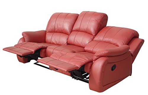 Voll-Leder Schlafcouch Schlafsofa Relaxsofa Fernsehsessel 5129-3-206