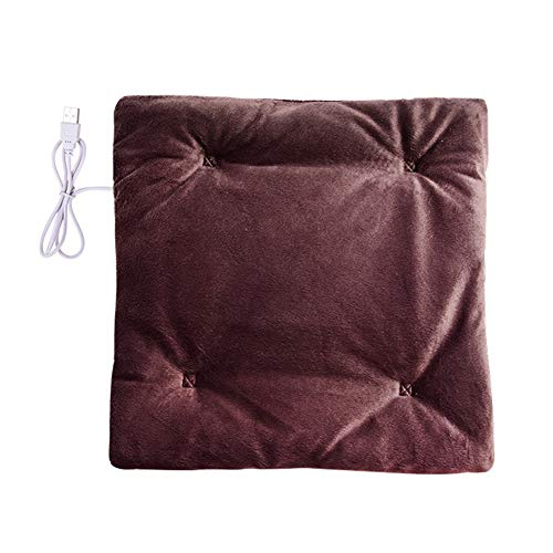 Xpccj Cojín de asiento con calefacción por USB, cojín calefactor eléctrico, antideslizante,...