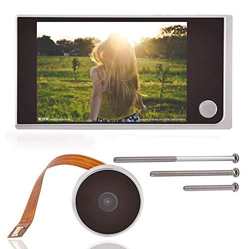 Spioncino Elettronico,Tangxi Spioncino Digitale Peephole Viewer,Schermo LCD 3,5 Pollici+Videocamera HD 720P+120° Angle View+24 Ore Monitoraggio,Spioncino Telecamera per Porta,per Sicurezza Domestica